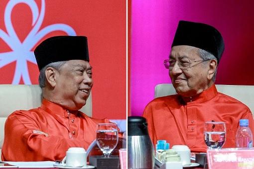 MUHYIDDIN Yassin dan Mahathir Mohamad.