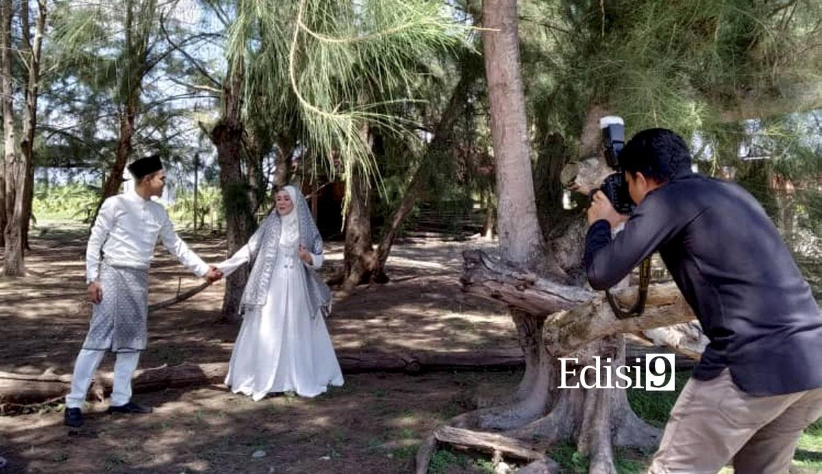 SESI fotografi perkahwinan luar dibolehkan dan mendapat kebenaran kerajaan. Foto: AMIR HAFIZ ABD RAHMAN