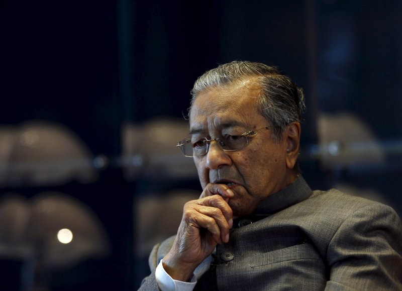 Malaysia's former prime minister Mahathir Mohamad during an interview with Reuters at his office in Petronas Towers, Kuala Lumpur, Malaysia