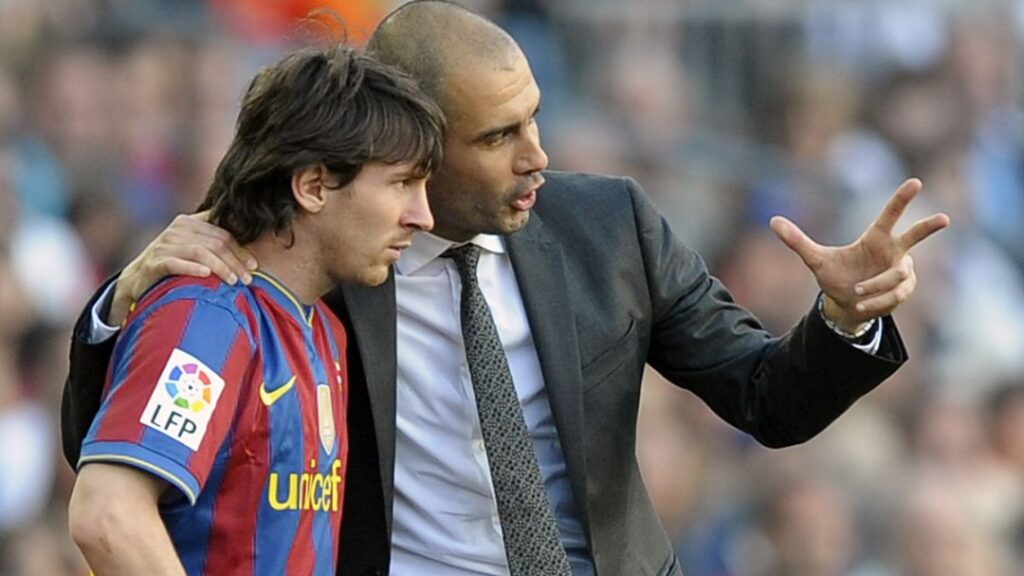 Lionel Messi ketika di bawah bimbingan Pep Guardiola di Barcelona.