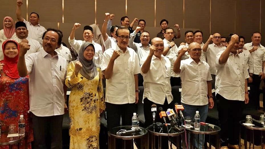 Sebahagian daripada 13 pemimpin UMNO yang meninggalkan parti selepas kekalahan BN dalam PRU-14 lalu. - Gambar Borneo Today