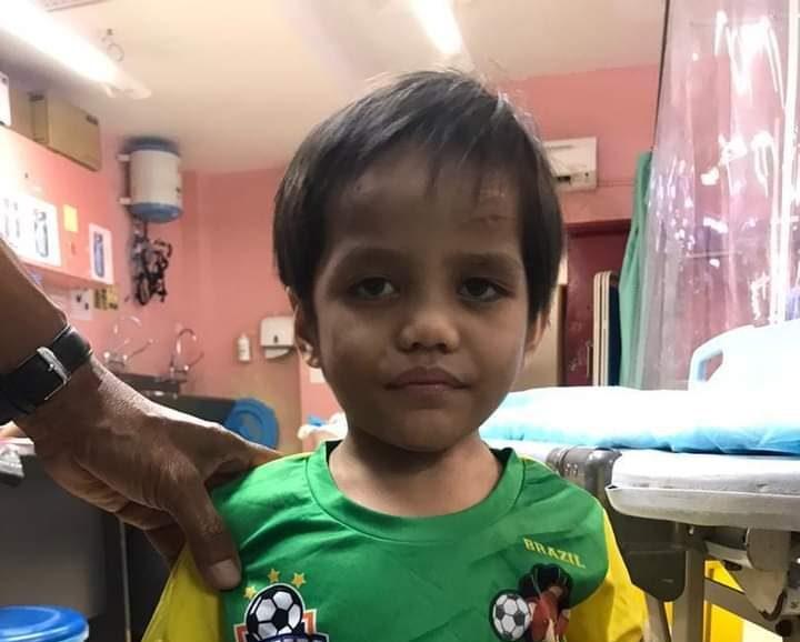 Kanak-kanak tanpa butiran diri ditemui di kawasan loji Taman Juara Jaya, Kajang, hari ini.