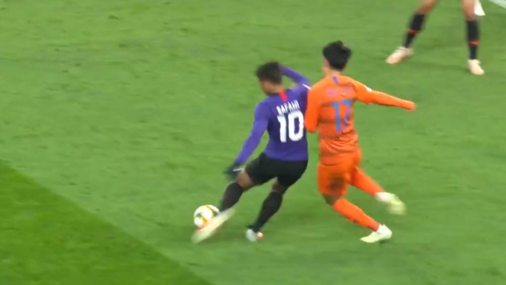 Sepakan lencong Safawi Rasid ketika menentang kelab Shandong Luneng dalam aksi Liga Juara-juara 2019 dinobat Gol Terbaik Sedekad. - Sumber: AFC